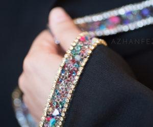 abaya pierres et perles azhanfez