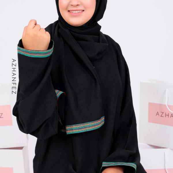 abaya azhanfez wax vert batha 1