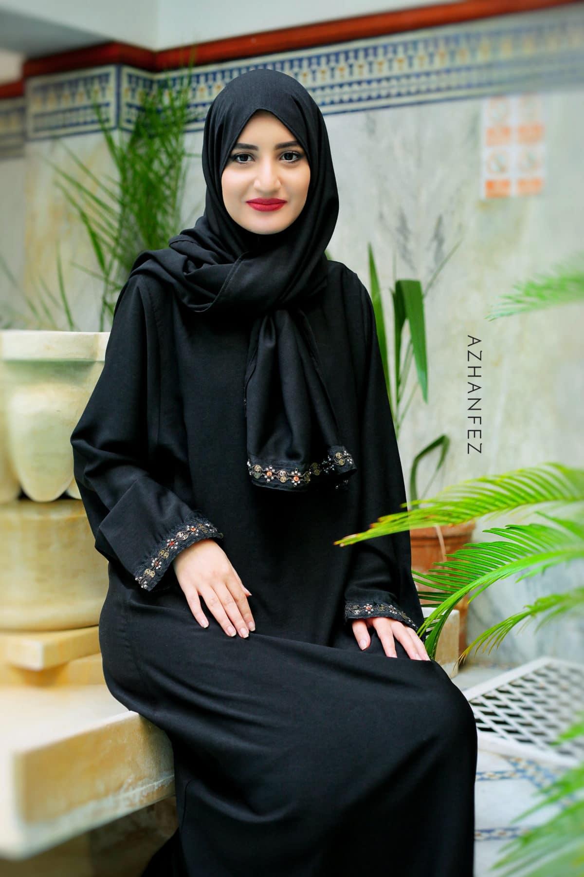 abaya azhanfez perles nejjarine 4