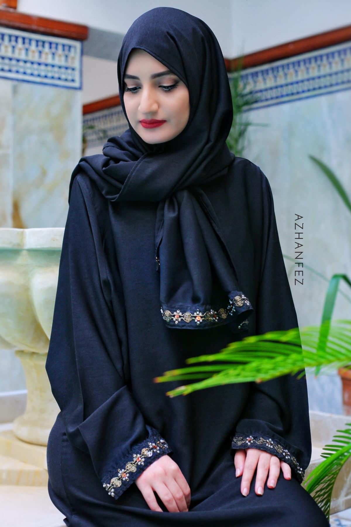 abaya azhanfez perles nejjarine 1