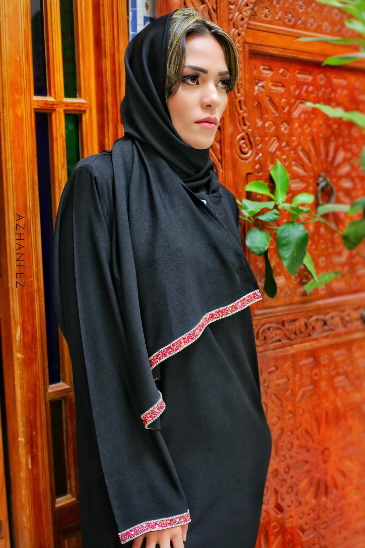 abaya azhanfez pierres et perles dekkakin 3
