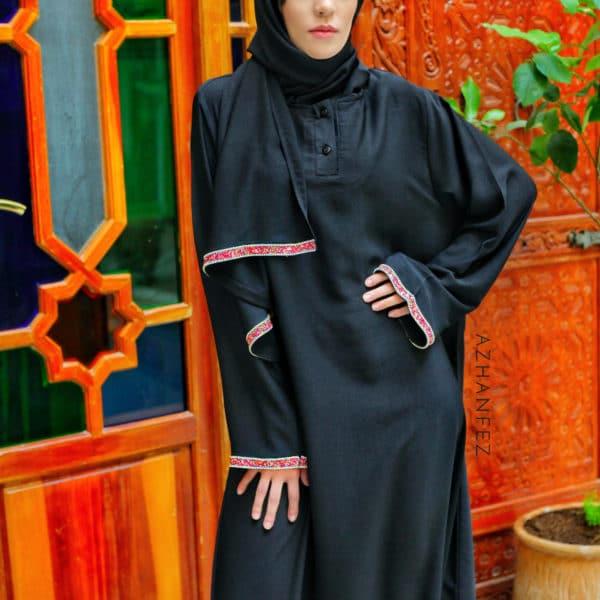 abaya azhanfez pierres et perles dekkakin 2